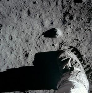 Buzz Aldrin's lunar bootprint